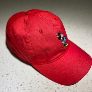 Vintage Red Minnie Mouse Baseball Hat